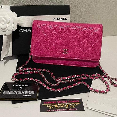 Chanel WOC Pink SHW Caviar Crossbody