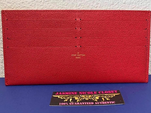 LV Card Holder Red