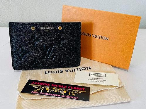 LV Card Holder  Empreinte Noir