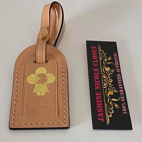 LV Vivienne Luggage Tag Peach Color