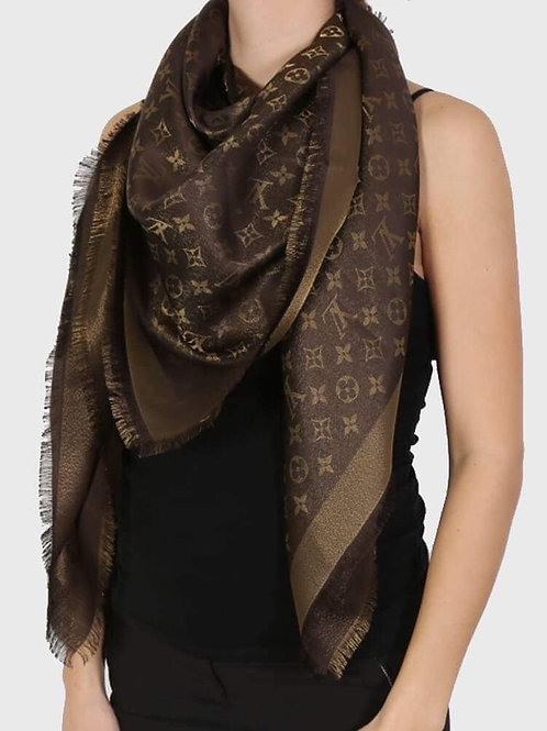 Brand New LV Shawl Shine Brown