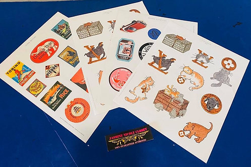 Authentic LV Sticker Collection 4 pages