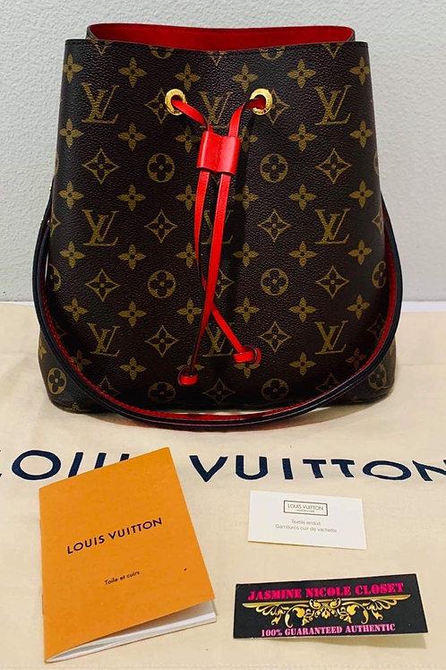 LV Neo Noe Red Crossbody Bag