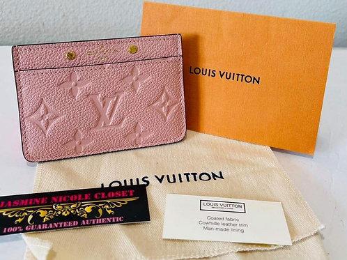 LV Card Holder  Empreinte Pink