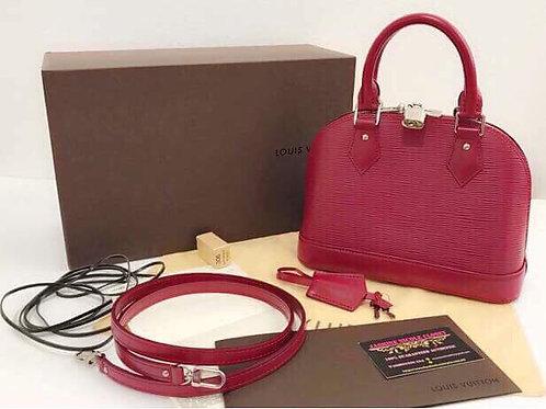 Excellent Condition Rare Louis Vuitton Alma BB Fuschia