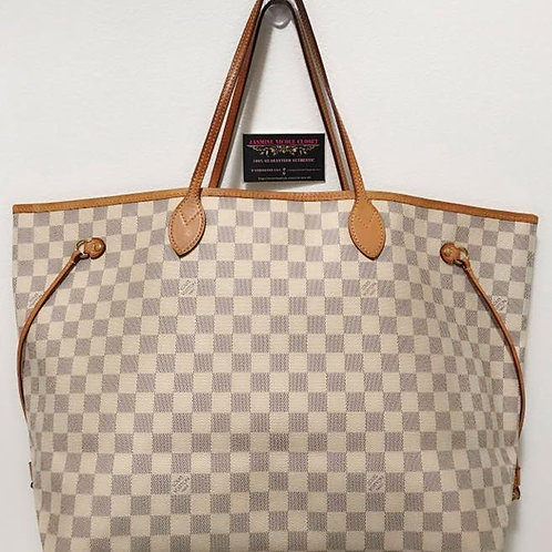 Pre Owned Authentic LV Neverfull GM Azur