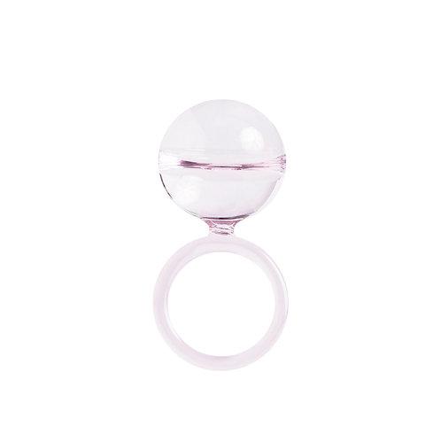 Dolce drop ring in Rose quartz
