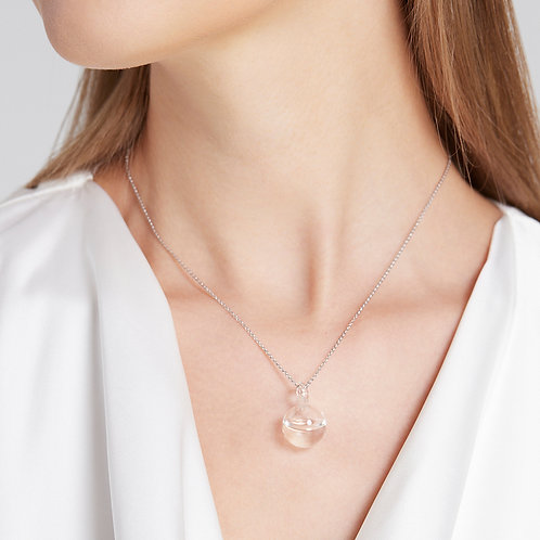 Tiny droplet necklace