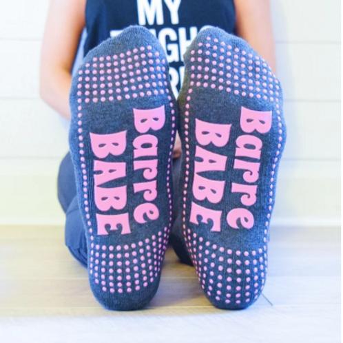 'Barre Babe' Grip Sock