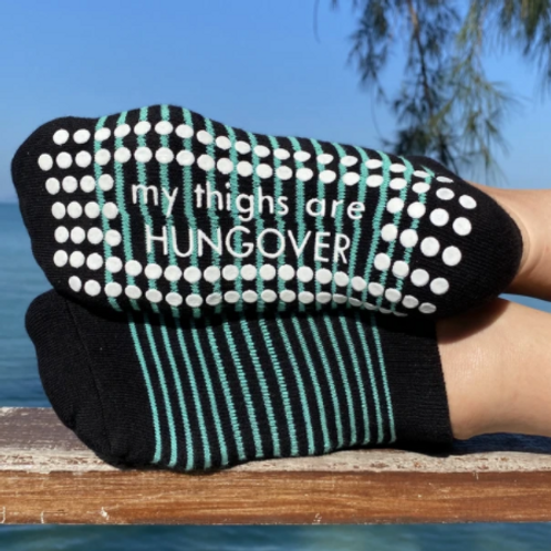 'Thighs are Hungover' Grip Socks