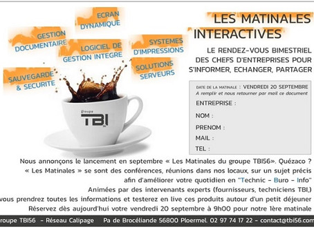 Les matinales interactives du Groupe TBI56