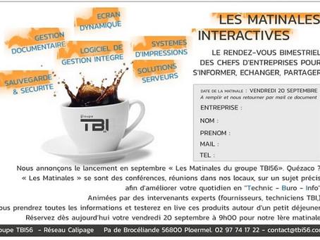 Les matinales interactives du Groupe TBI56