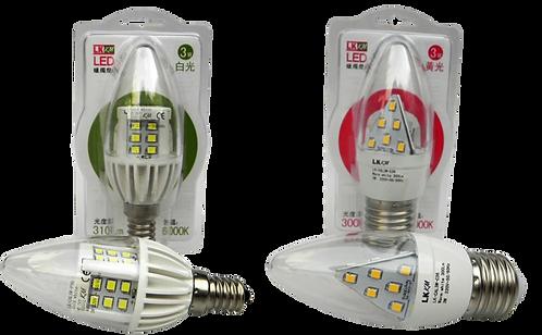 3瓦蠟燭燈 (白光/黃光)      3W Candle Light (Cold/ Warm Light)