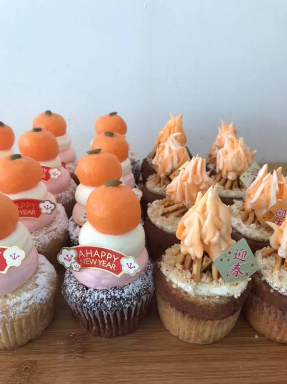 鏡もちカップケーキ&たき火カップケーキ