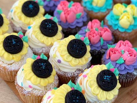 ひまわりカップケーキ