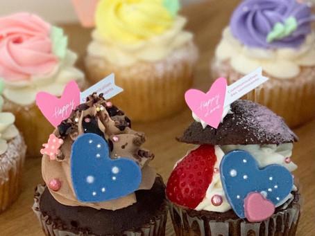 バレンタイン限定カップケーキ