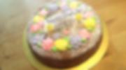 デコレーションバナナケーキ
