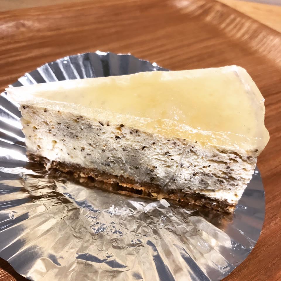 桃と紅茶のチーズケーキ
