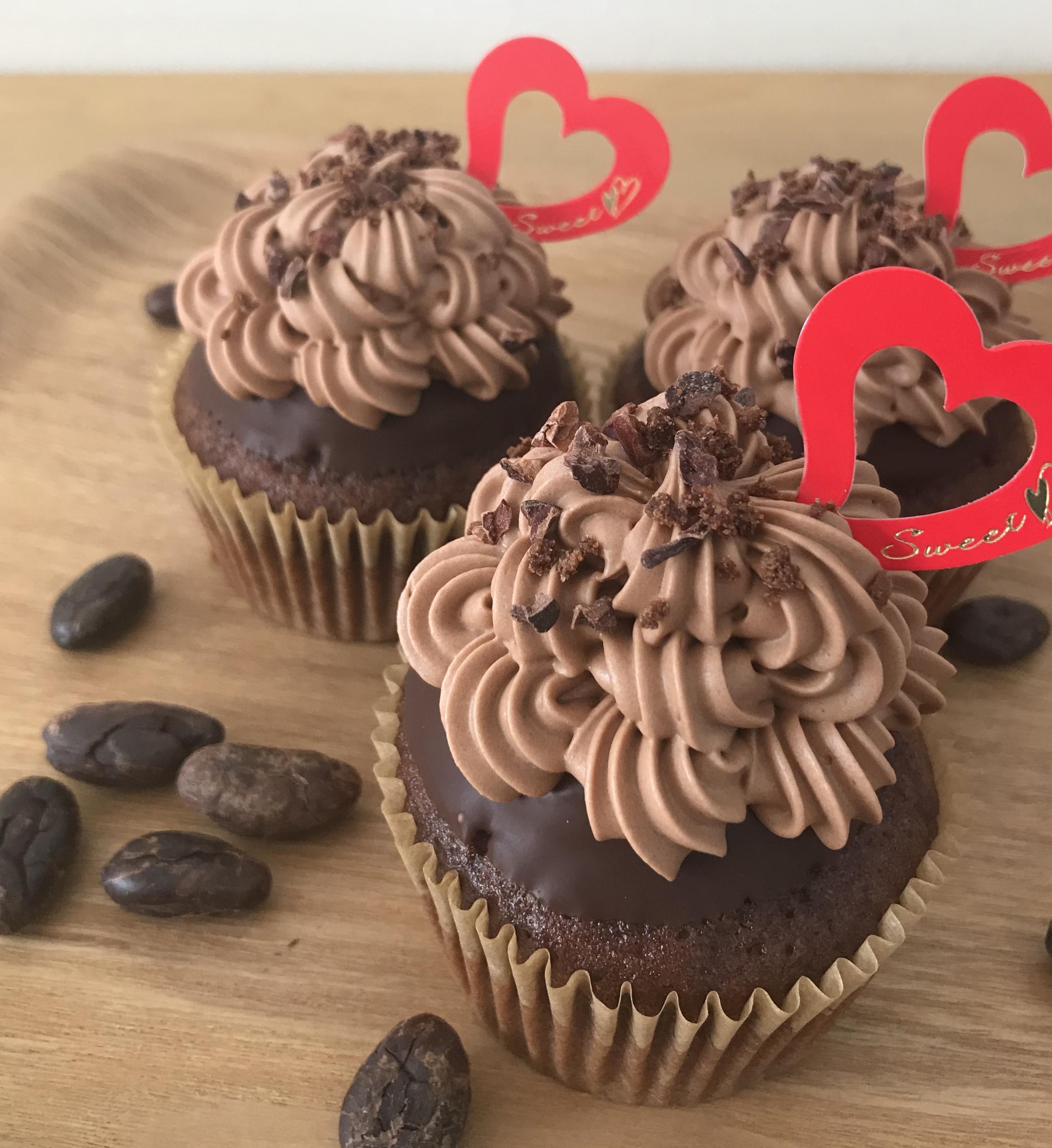 カカオニブカップケーキ
