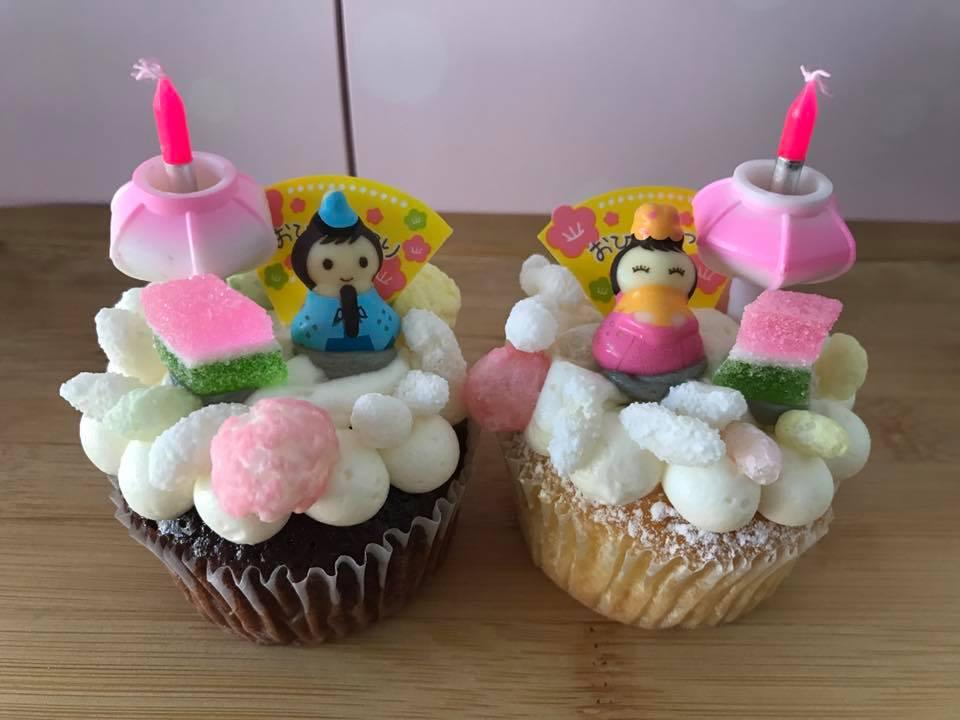 ひなまつりカップケーキ