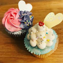 さくら甘酒ラテカップケーキ&さくらティーカップケーキ
