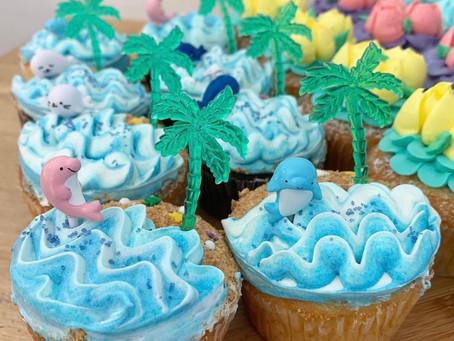海の日カップケーキ