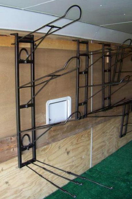 Triple Saddle Rack with height extension and adjustable blanket bars.