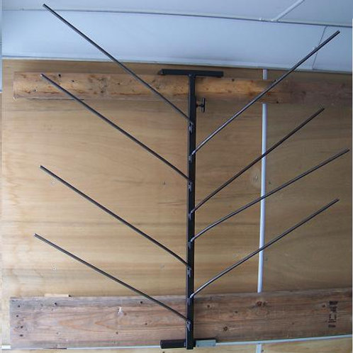 Vertical Saddle Pad rack with height adjustment
