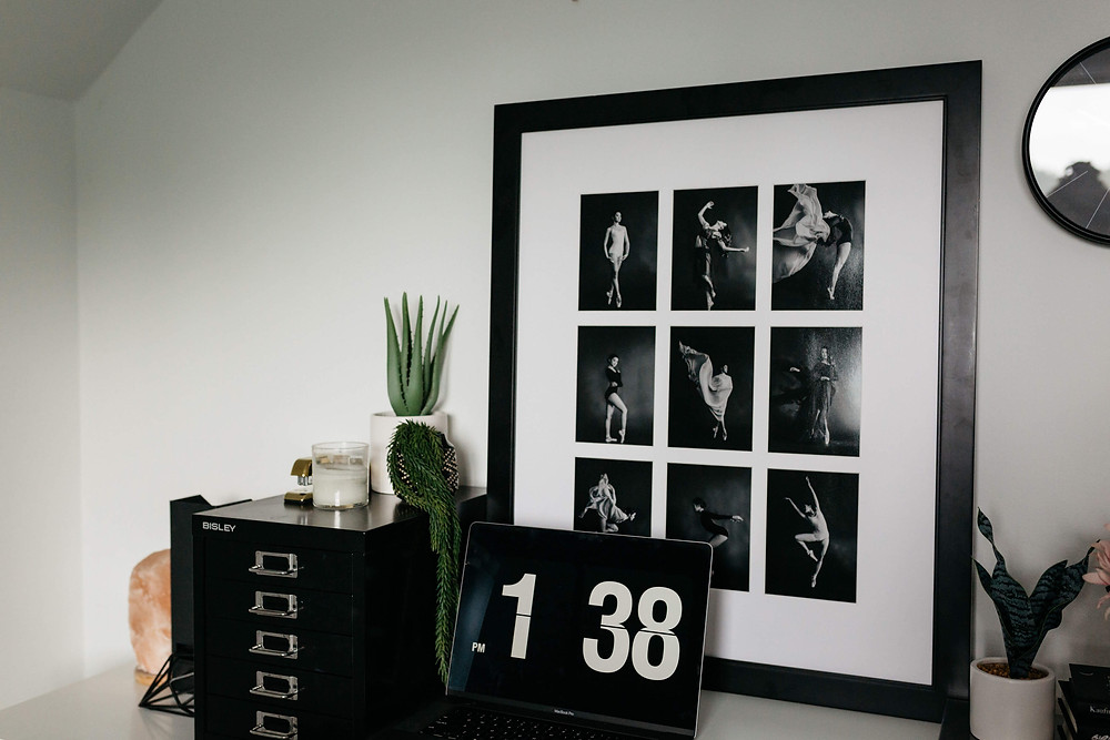 black and white bold office vibes in personal branding stock images customized for vancouver wa business