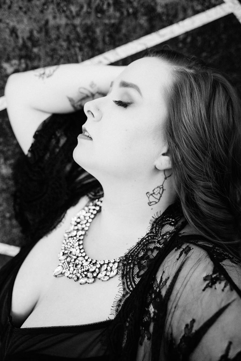 black lace lingerie moody boudoir pdx oregon