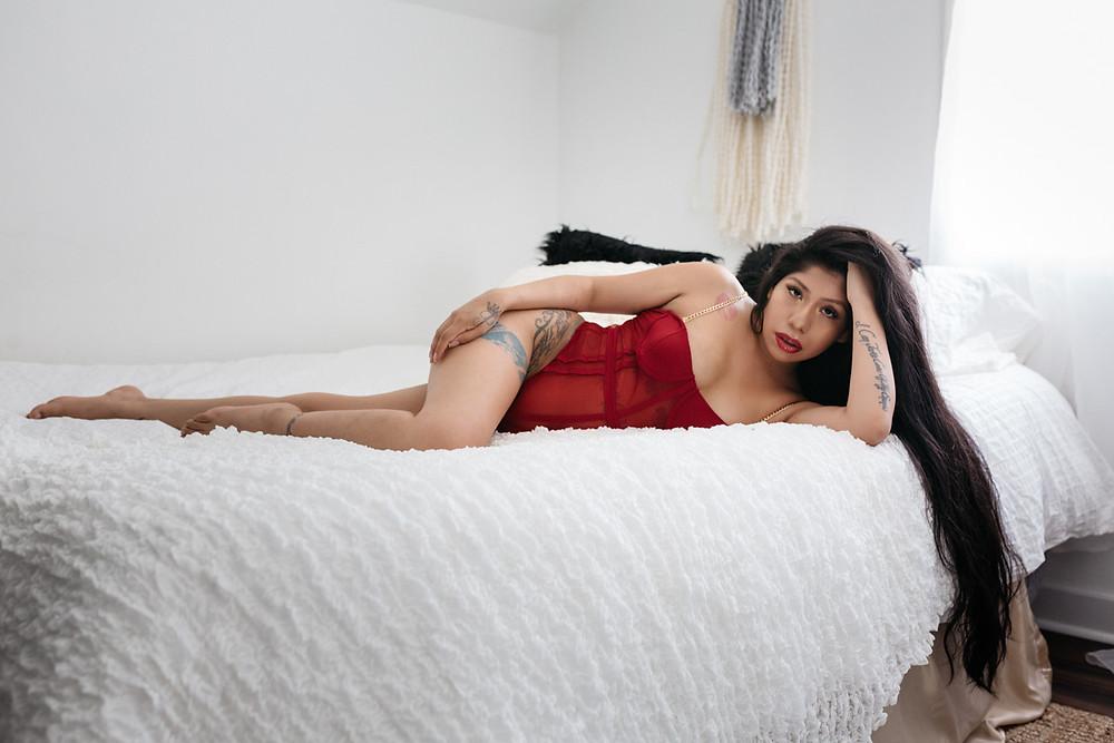 red lingerie boudoir portland or