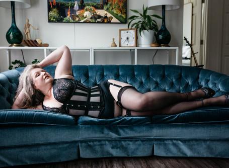 Miss B | Moody Glam Boudoir | Portland OR
