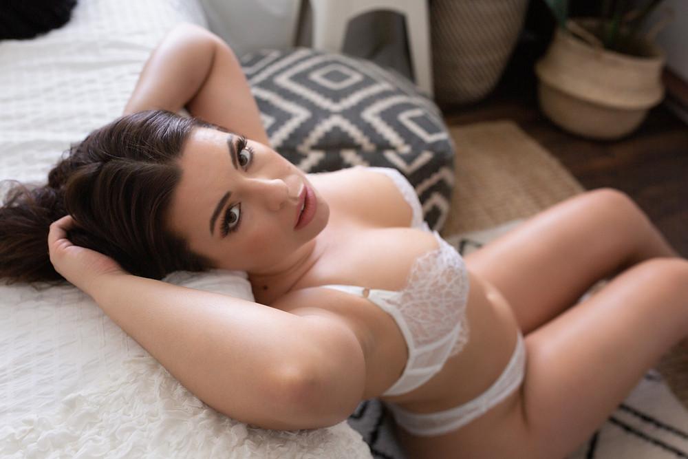 white on white moody boho boudoir vancouver wa