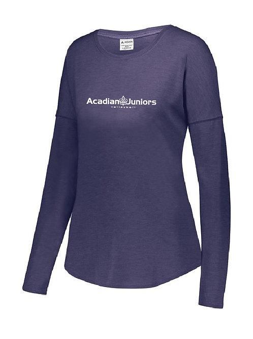 Ladies Lux Tri-Blend LS Shirt