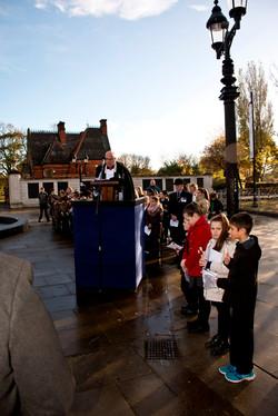 Dedication by the Rev Glyn Holland