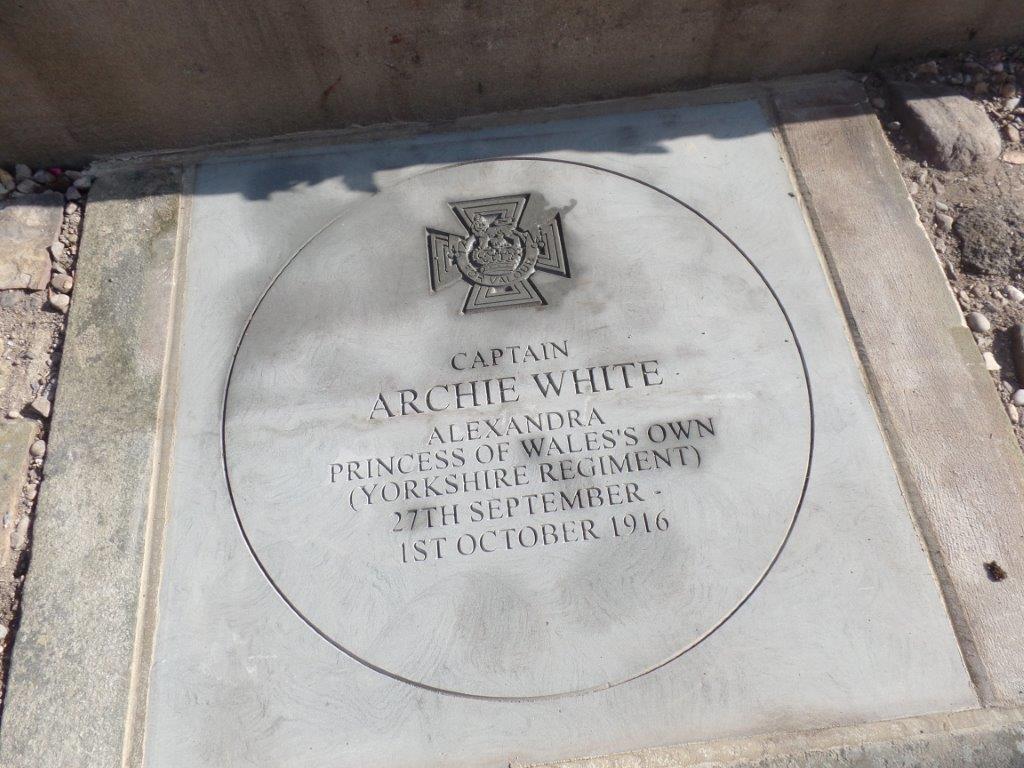 Commemoration To Honour Captain Archie White VC.Boroughbridge 094
