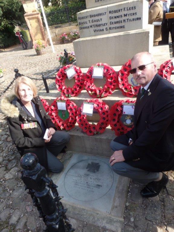 Commemoration To Honour Captain Archie White VC.Boroughbridge 115