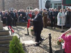 Commemoration To Honour Captain Archie White VC.Boroughbridge 078