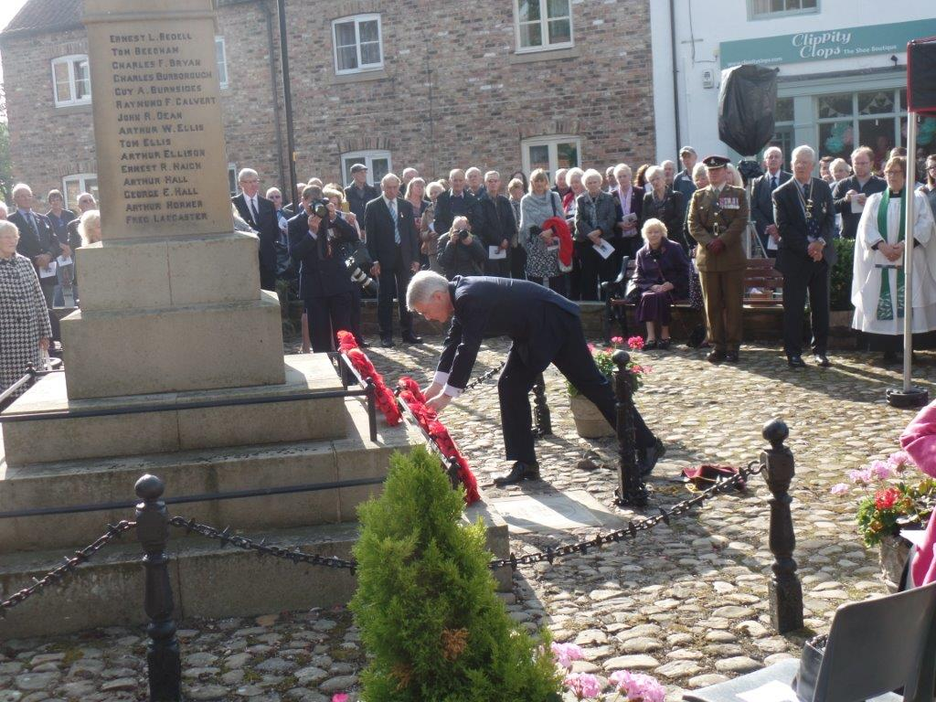 Commemoration To Honour Captain Archie White VC.Boroughbridge 084