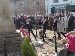 Commemoration To Honour Captain Archie White VC.Boroughbridge 085
