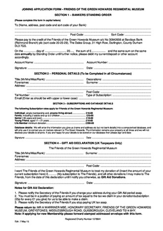 Membership to the Friends of the Green Howards Museum