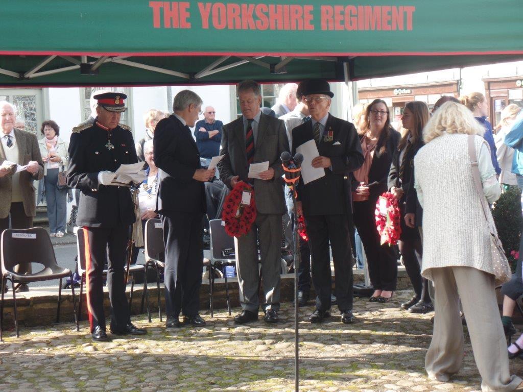 Commemoration To Honour Captain Archie White VC.Boroughbridge 069