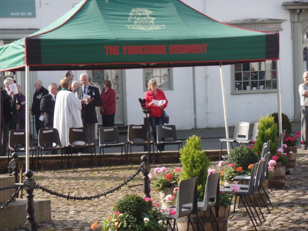 Commemoration To Honour Captain Archie White VC.Boroughbridge 055
