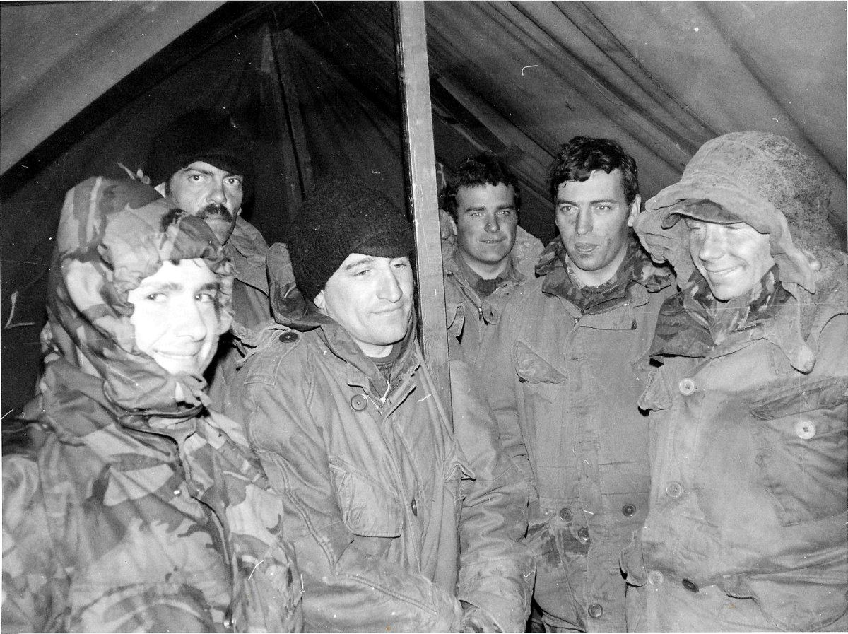 10 - A Coy leaders during storm Otterburn 1983