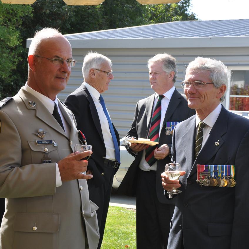 French Col, Lt Col O'Kelly, Chairman GHA