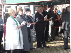 Commemoration To Honour Captain Archie White VC.Boroughbridge 072