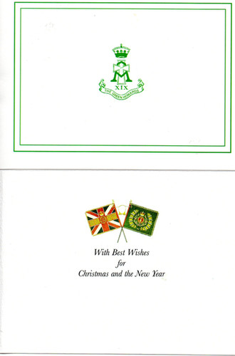 Green Howard Christmas and Occasional cards