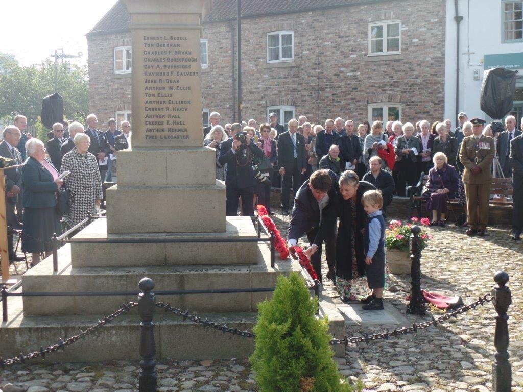 Commemoration To Honour Captain Archie White VC.Boroughbridge 081