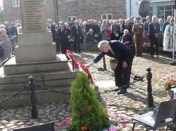Commemoration To Honour Captain Archie White VC.Boroughbridge 083