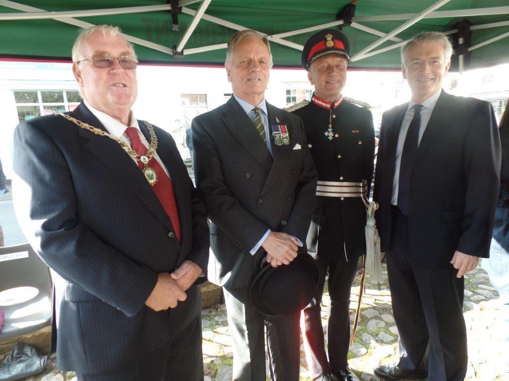 Commemoration To Honour Captain Archie White VC.Boroughbridge 096